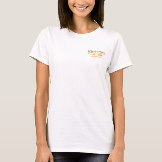 T-shirt Logo orange bien choisi futé, Adams Cameron et