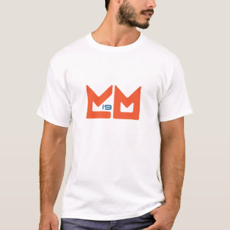 T-shirt Logo - orange et bleu