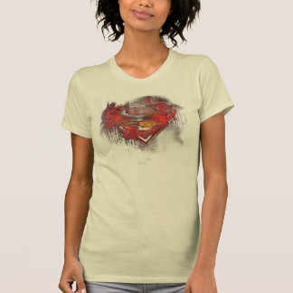 T-shirt Logo peint par | de S-Bouclier de Superman