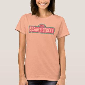T-shirt Logo rose de signe de Sesame Street