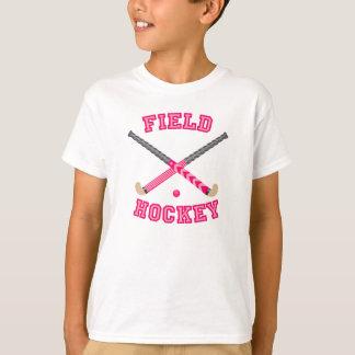 T-shirt Logo rose d'hockey de champ