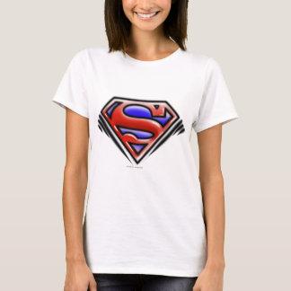 T-shirt Logo rouge d'aerographe du S-Bouclier | de