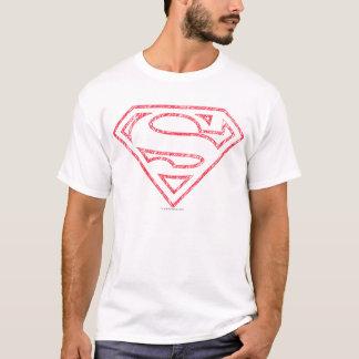 T-shirt Logo rouge d'ensemble du S-Bouclier | de Superman
