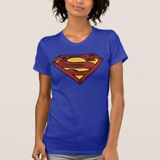 T-shirt Logo rouge obscurci par | de S-Bouclier de