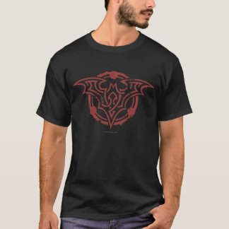 T-shirt Logo urbain d'ensemble rouge du symbole | de