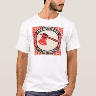 T-shirt Logo vintage de boîte d'allumettes de hache de