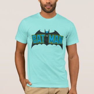 T-shirt Logo vintage de noir bleu de Batman |