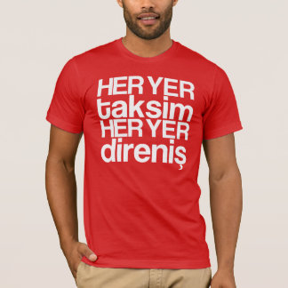 T-shirt loin yer taksim - white