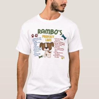 T-shirt Lois de la propriété de Rambo