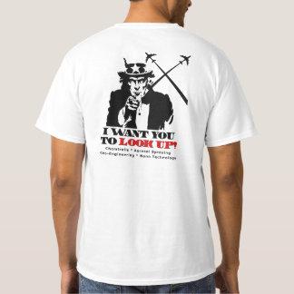T-shirt L'Oncle Sam indique l'arrêt Chemtrails