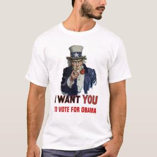 """T-shirt L'Oncle Sam indique, """"vote pour Obama """""""