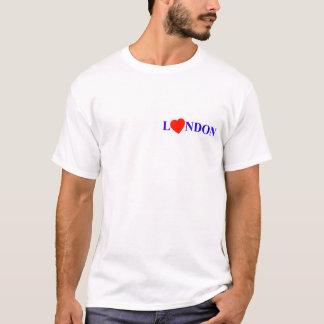 T-shirt London red heart
