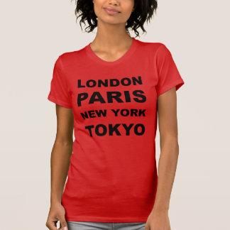 T-shirt Londres, Paris, New York, Tokyo