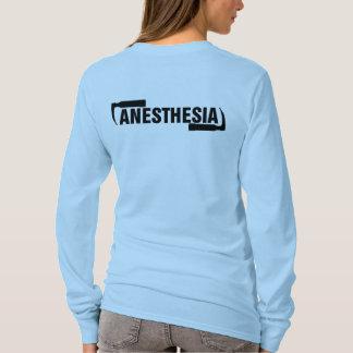 T-shirt Long logo d'anesthésie de douille
