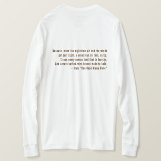 T-shirt Long-SL pièce en t, maman Bone de la photo une de