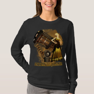 T-shirt Long Sleve T Ceris rêve télescopique de Steampunk