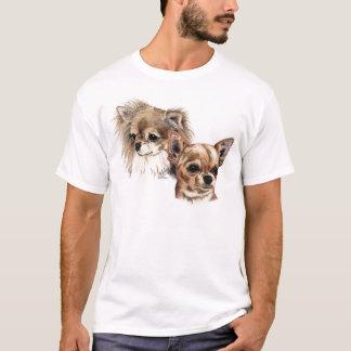 T-shirt Longs et lisses chiwawas de manteau