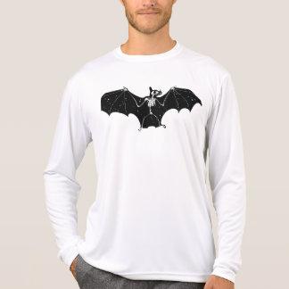 T-shirt Longsleeve de squelette de batte de Halloween