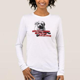 T-shirt longtemps gainé de marcheur de chien -
