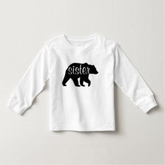 T-shirt longtemps gainé d'ours de soeur
