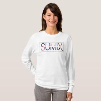 T-shirt Longue chemise de douille avec le logo de Sumix