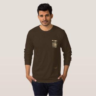T-shirt Longue chemise de douille de concepteur à la mode
