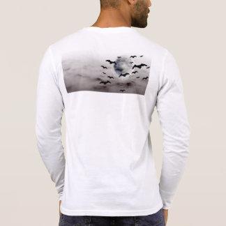 T-shirt Longue chemise de douille de Henley