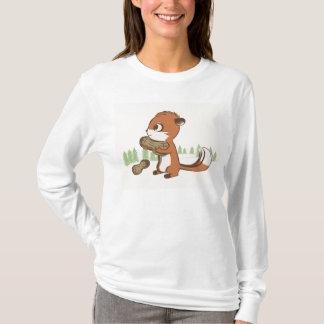 T-shirt Longue chemise de douille de tamia et d'arachides