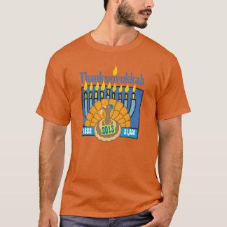 T-shirt Longue chemise de douille de Thanksgivukkah