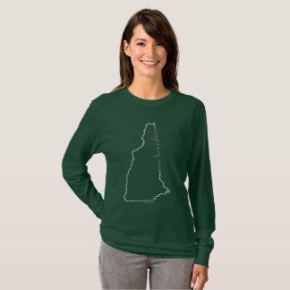 T-shirt Longue chemise de douille du New Hampshire