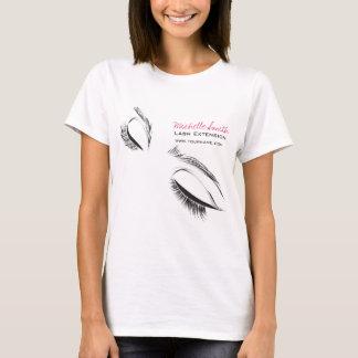 T-shirt Longue extension de mèche de mèches de visage