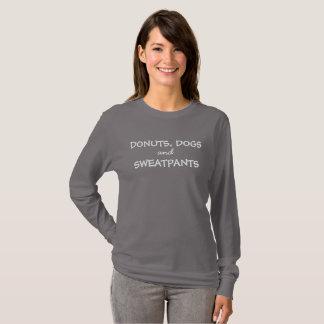 T-shirt Longue pièce en t de douille de chiens, de butées