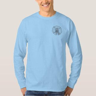 T-shirt Longue pièce en t de douille de logo officiel