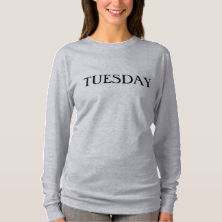 T-shirt Longue pièce en t de douille de mardi