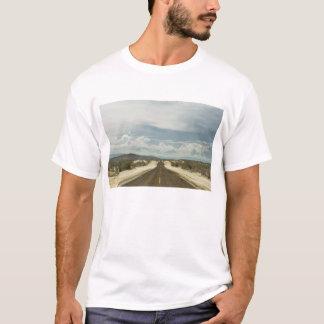 T-shirt Longue route droite par le paysage de Baja de