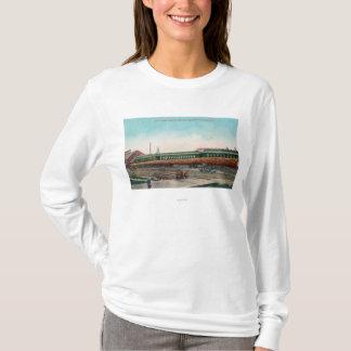 T-shirt Longues voies ferrées d'ouverture d'arbre