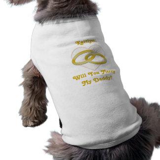 T-shirt L'or personnalisé de proposition de mariage