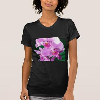 T-shirt L'orchidée fleurit plan rapproché dans le rose