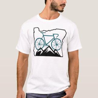 T-shirt L'Orégon faisant du vélo