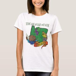 T-shirt L'Orégon le raisin d'alouette d'état de castor