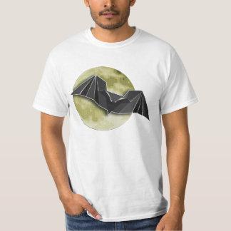 T-shirt L'origami empaquette la batte avec pleine lune