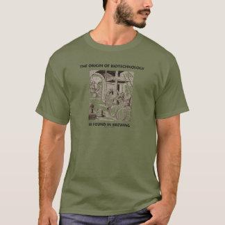 T-shirt L'origine de la biotechnologie est trouvée dans le