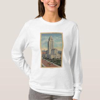 T-shirt Los Angeles, CAView de ville hôtel et funiculaire