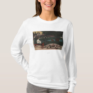 T-shirt Los Angeles, fille de CAAlligator FarmPulling