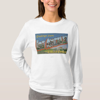 T-shirt Los Angeles, scènes de lettre de CaliforniaLarge