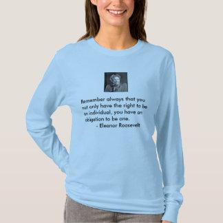 T-shirt L'ot d'obligation soit une personne