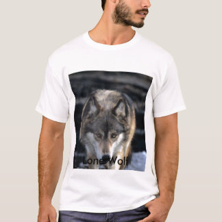 T-shirt Loup de Runing, loup solitaire