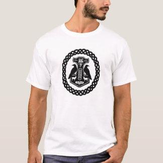 T-shirt Loup et marteau du Thor de chèvres avec Ravens