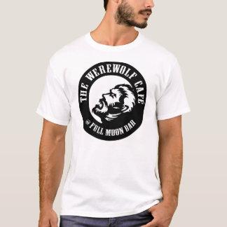 T-shirt Loup-garou Café (avant de logo/dos de site Web)