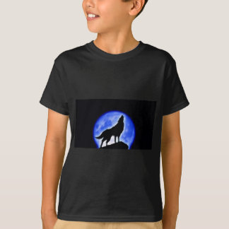 T-shirt Loup hurlant à la lune
